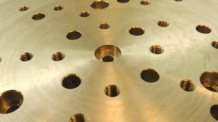 Close up of the Rotary table Sub Plate